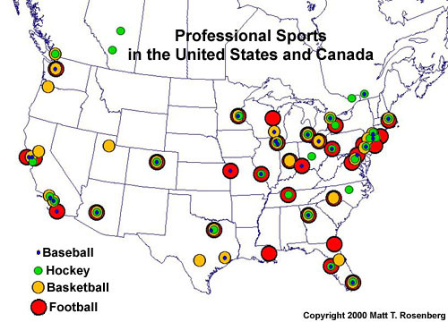 Baseball Webquest Computer Lab Blog - Map-of-sports-teams-in-us